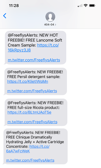 free samples text notifications