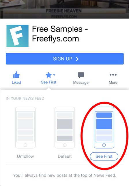 How to not miss a Facebook post about FREE samples! - Freeflys