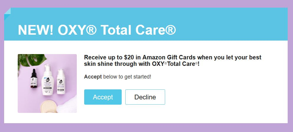 free oxy total care acne products