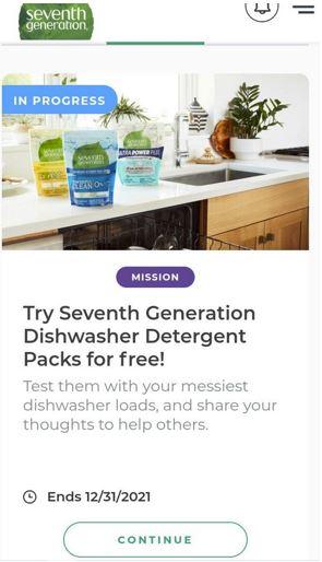 free seventh generation dishwasher detergent