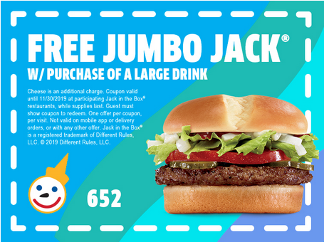 free jack in the box jumbo jack sandwich
