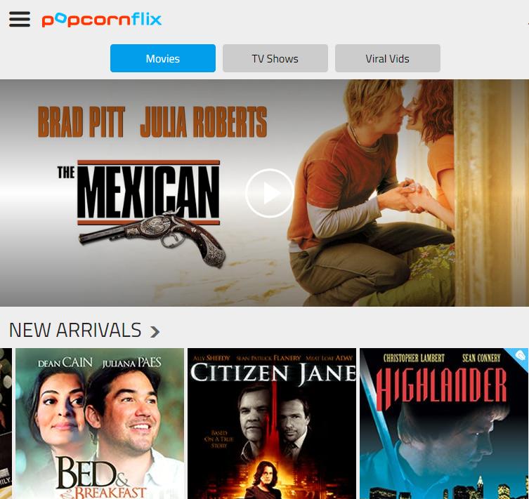 popcorn flix free movies