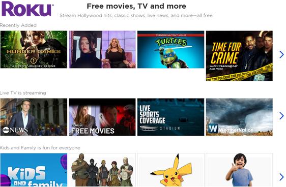 roku free movies