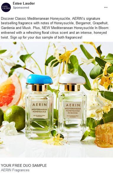 free estee lauder aerin honeysucke perfume sample
