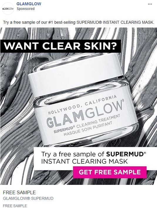 free glamglow mask sample