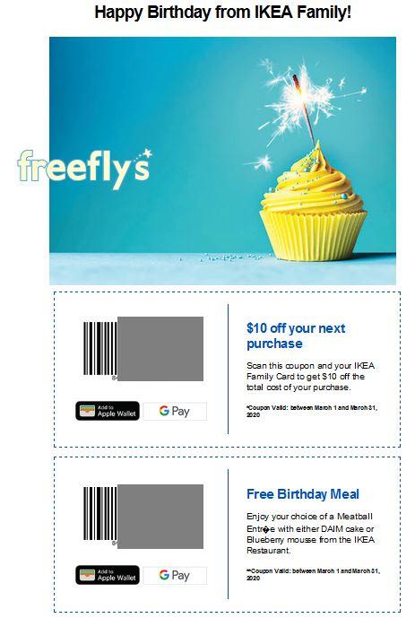 ikea birthday freebie
