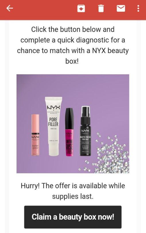 free nyx beauty box2