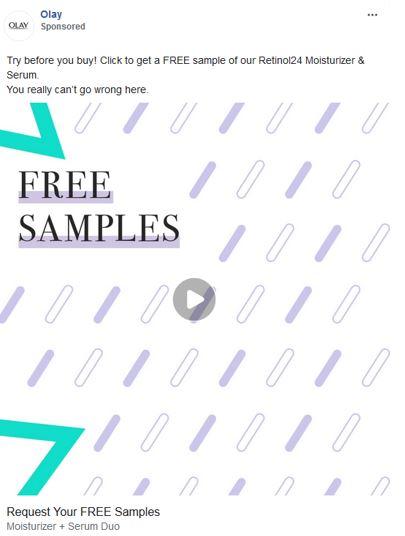 free olay retinol samples