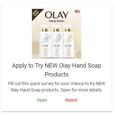 free olay hand products