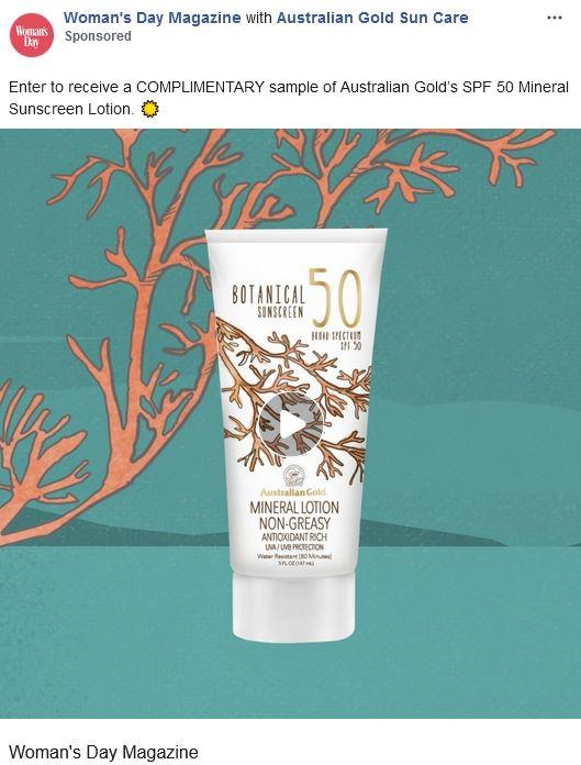 free australian gold mineral sunscreen sample