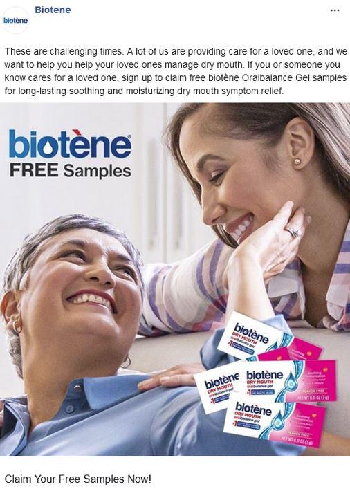 free biotene oralbalance sample