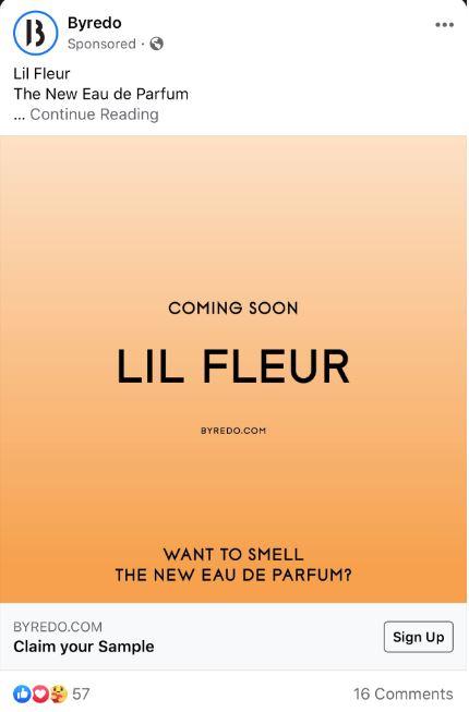 free lil fleur perfume sample