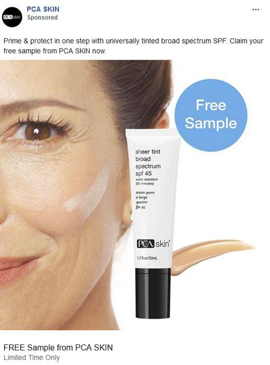 free pca tinted moisturizer