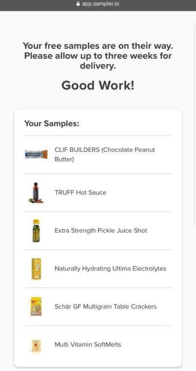free sampler samples