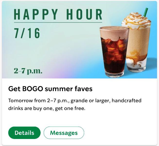 bogo free starbucks