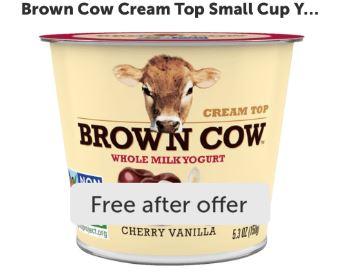 brown cow yogurt ibotta freebie