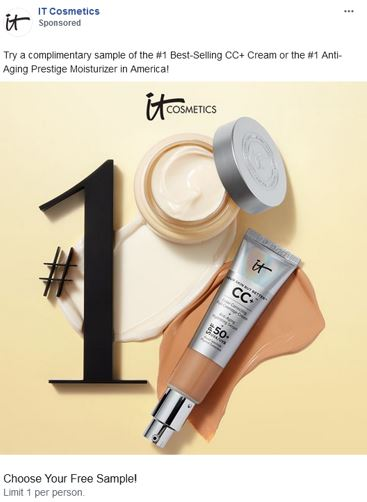 free it cosmetics product sample