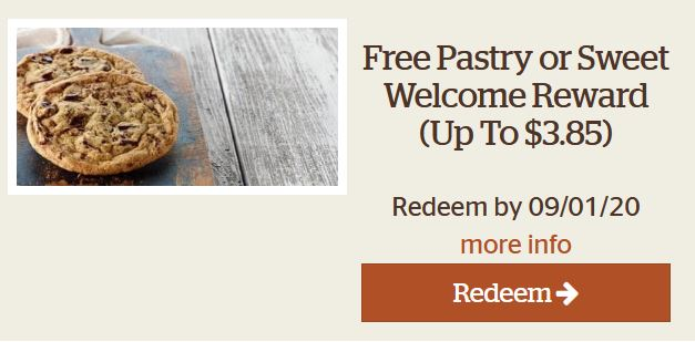 free panera pastry