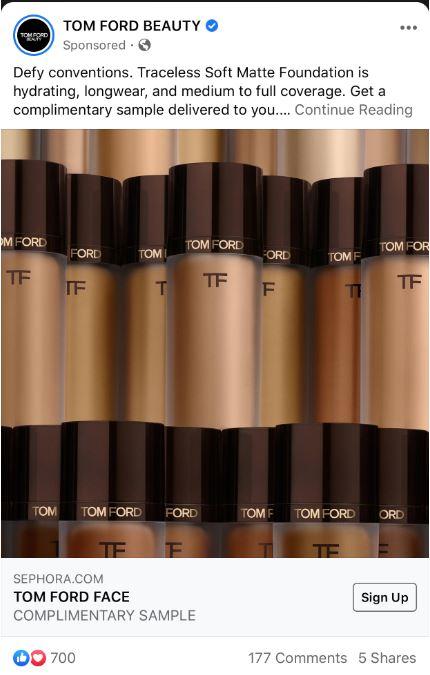 free tom ford matte foundation sample