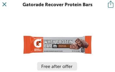 gatorade protein bar ibotta freebie