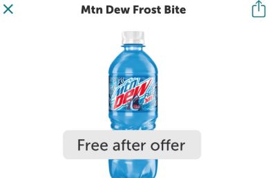 mtn dew frostbite ibotta freebie