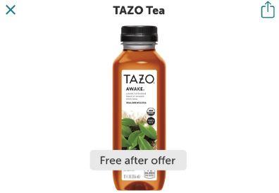tazo tea freebie