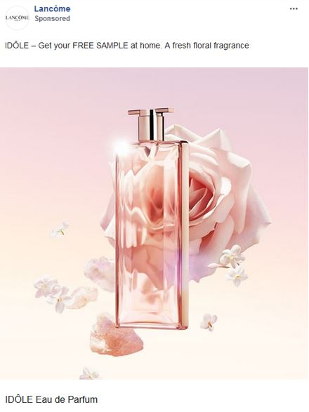 free lancome idole fragrance sample
