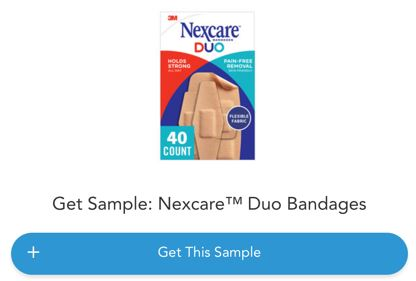 free nexcare bandages