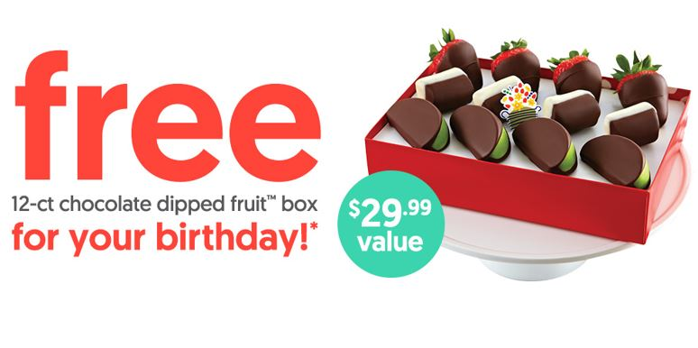 free strawberry edible arrangment birthday freebie
