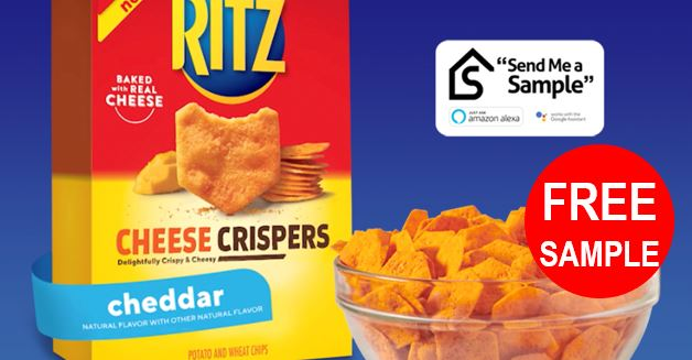 Free Sample Ritz Cheese Crispers – Google or Amazon Device Required