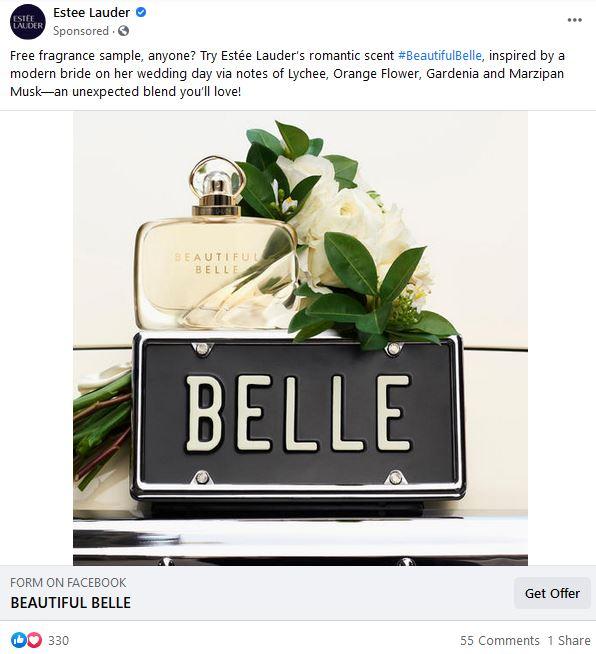 free estee lauder belle sample