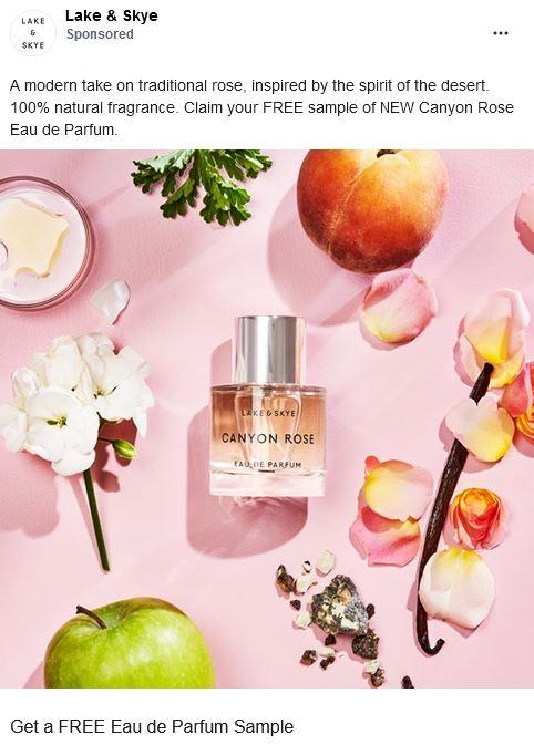free lake & skye perfume sample