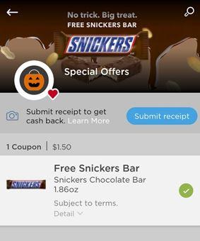 free snickers couponscom app