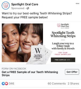 free spotlight whitening strips