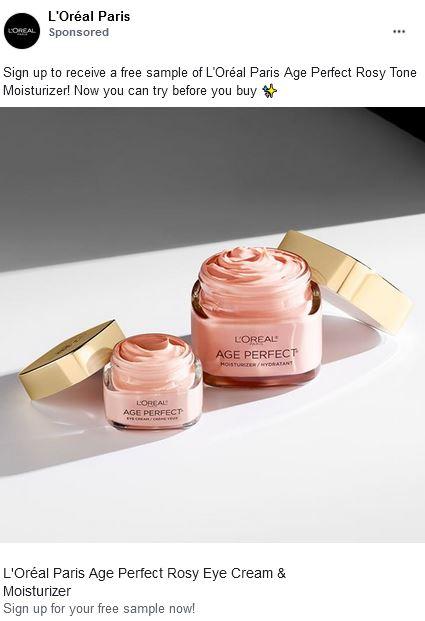 free loreal rosy cream