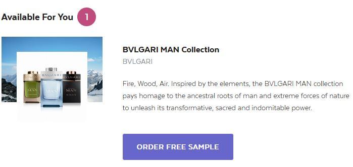 free bvlgari fragrance sample