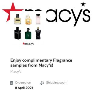 free macys fragrance sample box