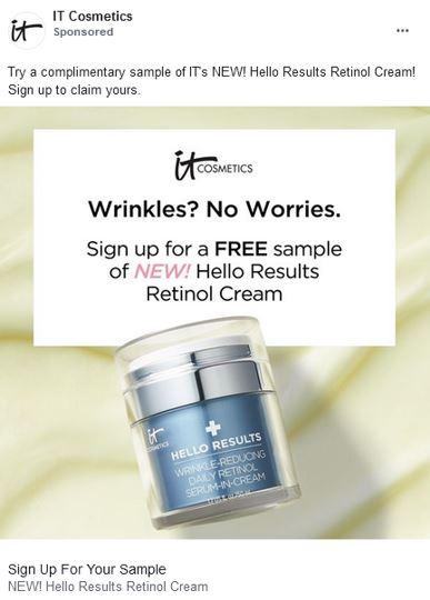 free it cosmetics retinol cream sample
