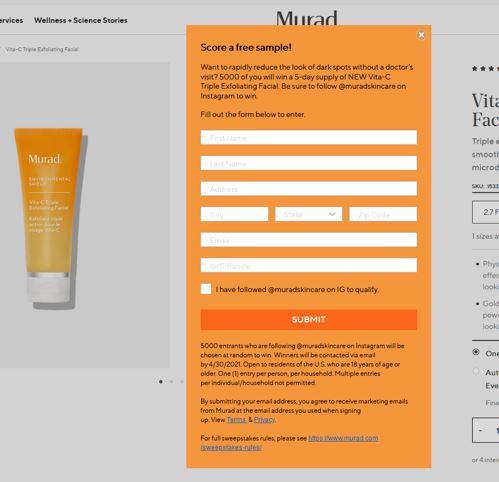 free murad vita c facial sample