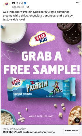 free cookie creme zbar sample