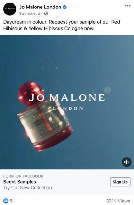 free jo malone red hibiscus & yellow hibiscus cologne sample