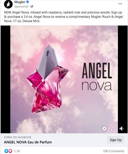 free mugler angel sample