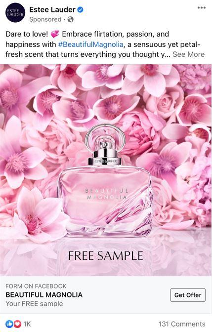 free estee lauder beautiful magnolia sample