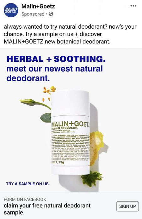 free malin goetz sample