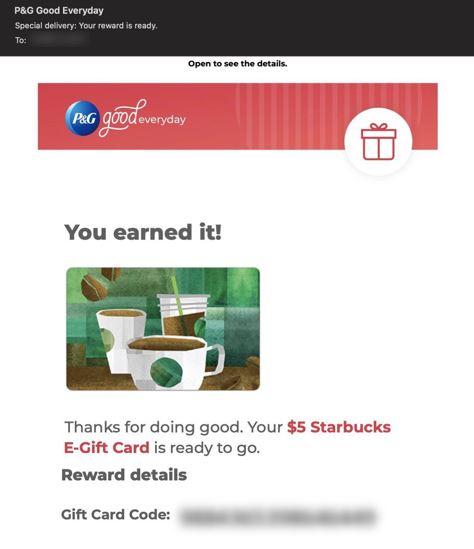 pg free starbucks card