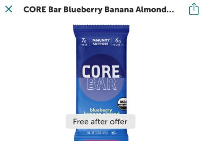 core bar ibotta freebie