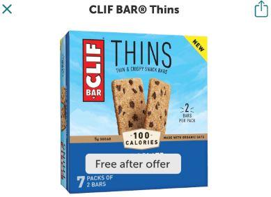 free clif bar thins ibotta