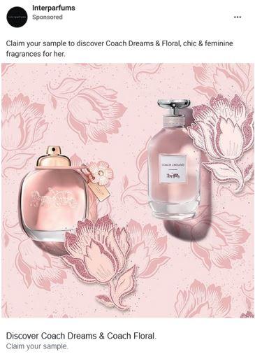 free coach dreams floral samples