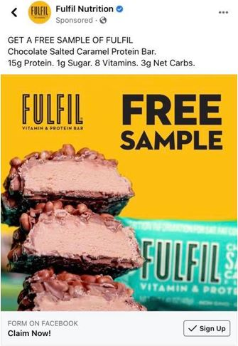 free fulfill nutrition bar