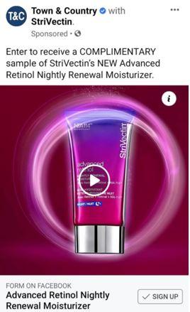 free strivectin retinol moisturizer